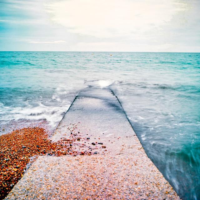 """Brighton Beach Jetty"" stock image"