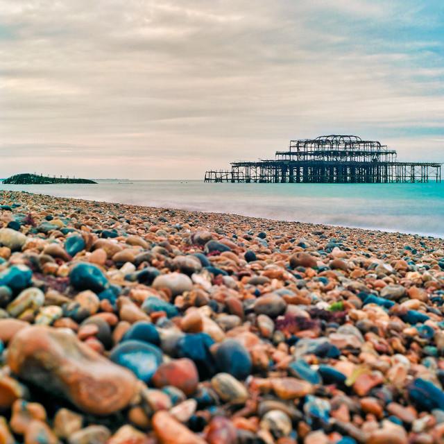"""West Pier in Brighton"" stock image"