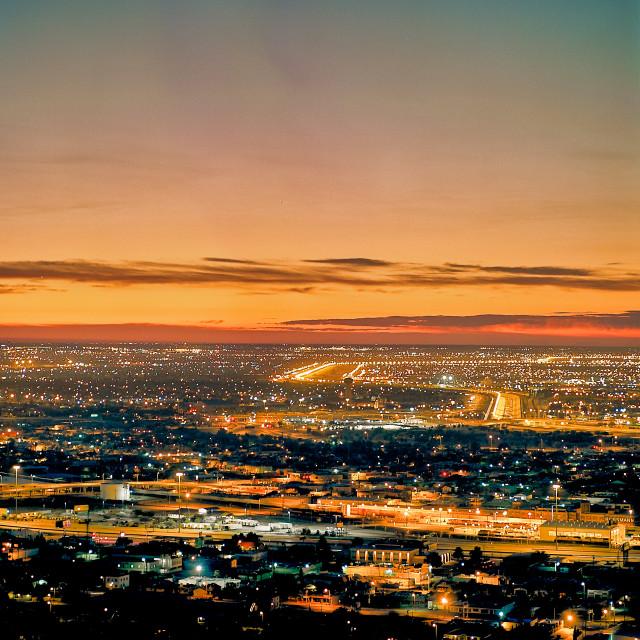"""""""Cityscape at Sunrise"""" stock image"""