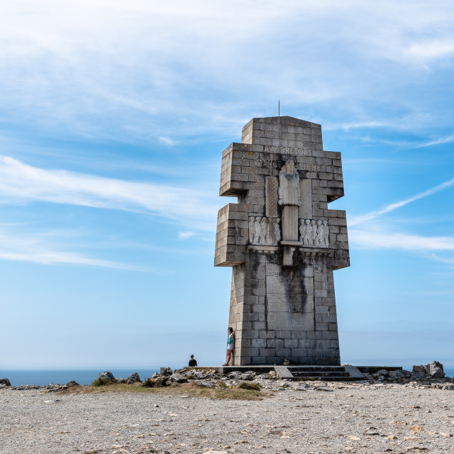 """The Cross of Pen-Hir, a monument to the Bretons of Free France"" stock image"