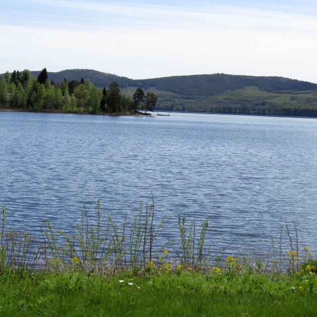 """Lake in Bjasta, Sweden"" stock image"
