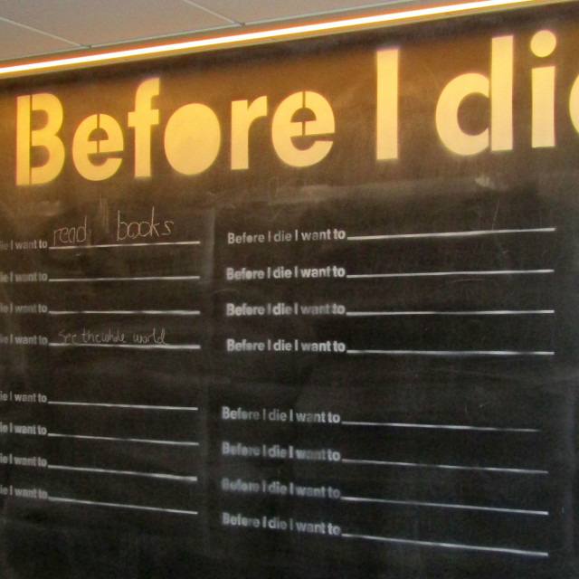 """Before I die project board in Trondheim"" stock image"