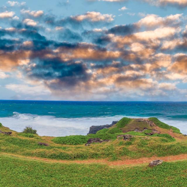 """""""La Roche Qui Pleure in Mauritius, Africa"""" stock image"""