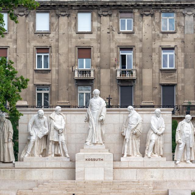 """""""Kossuth Plaza in Budapest"""" stock image"""