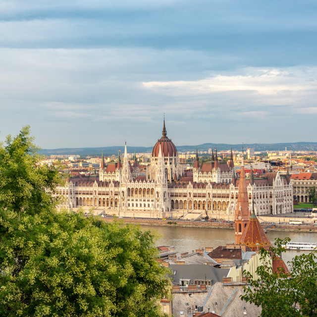 """Hungarian Parliament and Cityscape"" stock image"