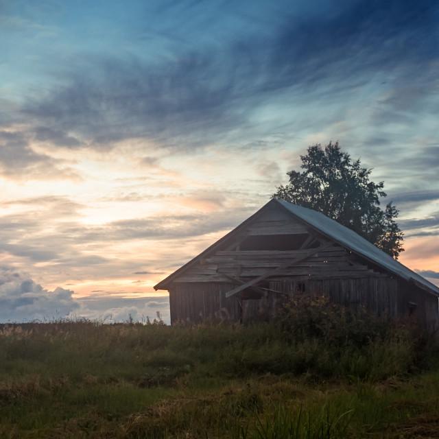 """Summer Night On The Fields"" stock image"