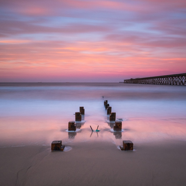 """Calm Sunset."" stock image"