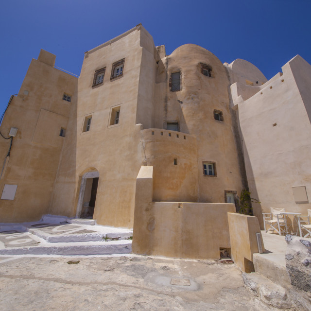 """the castle of Emporeio Village Santorini Greece"" stock image"