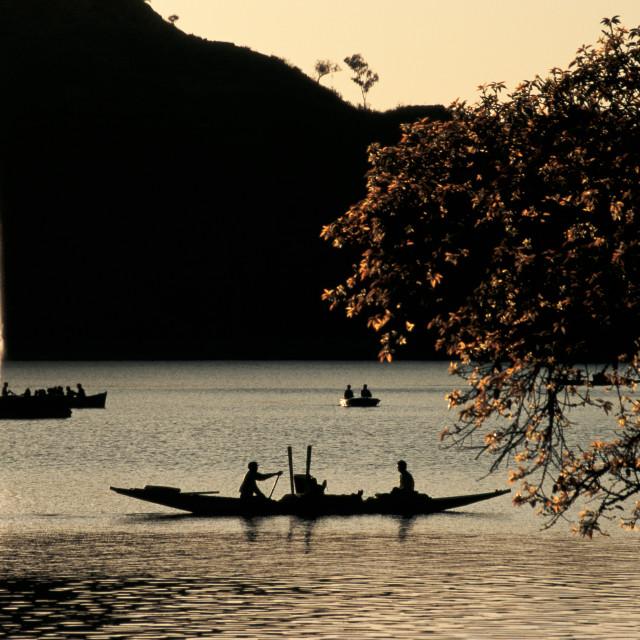 """""""Nakki lake at Mount Abu ( India)"""" stock image"""