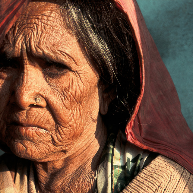 """Woman belonging to the Gaduliya Lohar caste ( India)"" stock image"