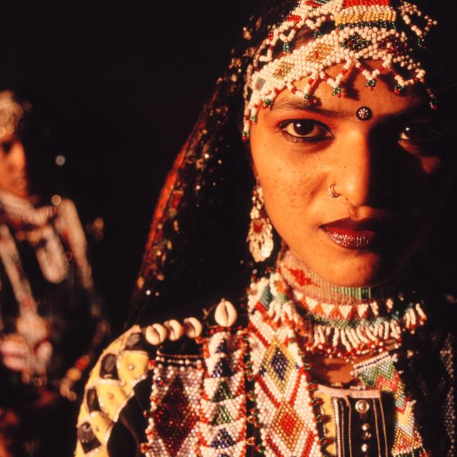 """""""Kalbelia dancers ( India)"""" stock image"""