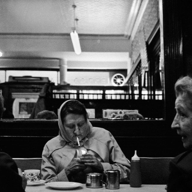 """Cafe, Glasgow, Scotland 1984"" stock image"