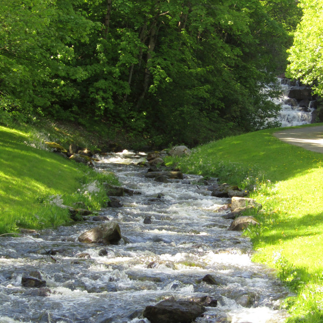 """Stream in Trondheim"" stock image"