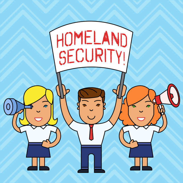 """""""Writing note showing Homeland Security. Business photo showcasing federal..."""" stock image"""