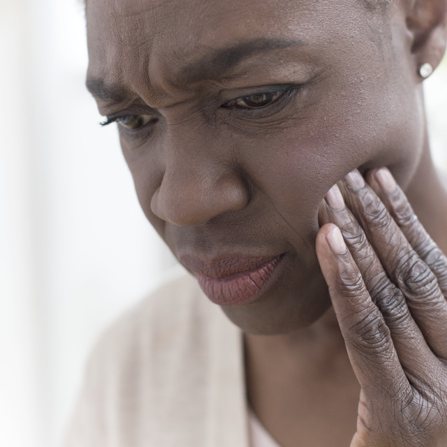 """""""Woman with tooth ache"""" stock image"""