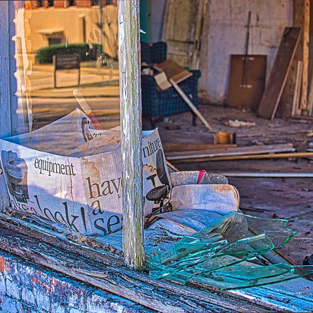 """""""abandoned store"""" stock image"""