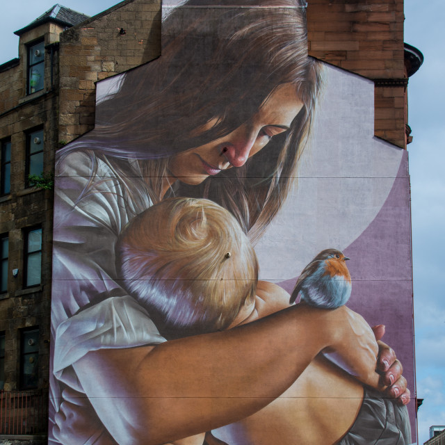 """Mother and Child Mural"" stock image"