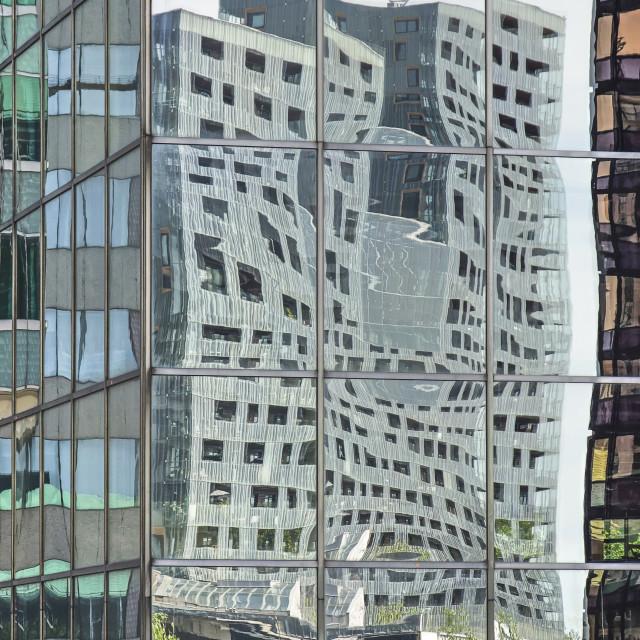"""Rotterdam skyscrapers reflection"" stock image"
