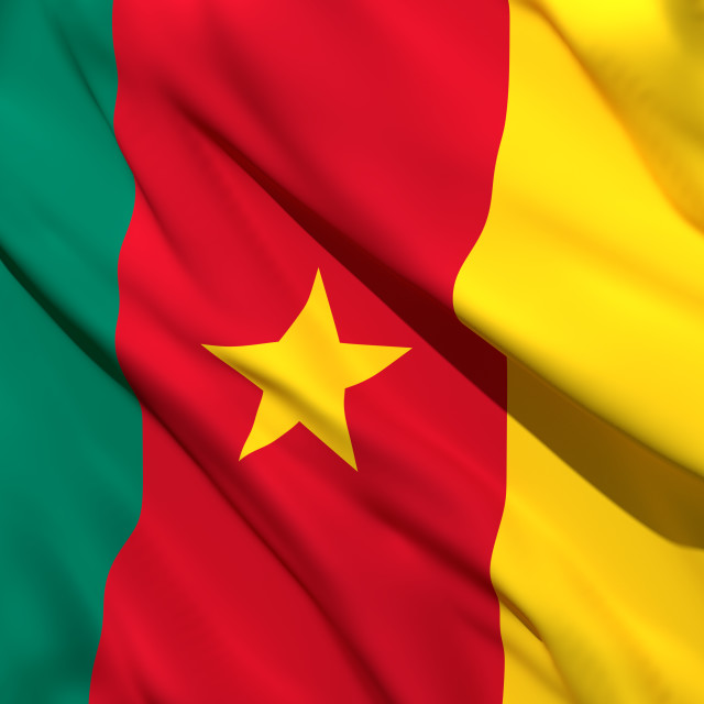 """3d rendering of Cameroon flag"" stock image"