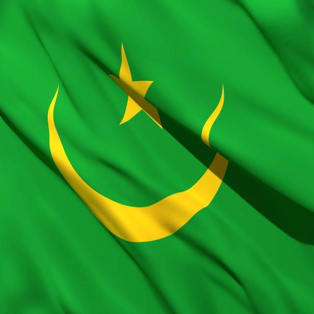 """3d rendering of Mauritania flag"" stock image"