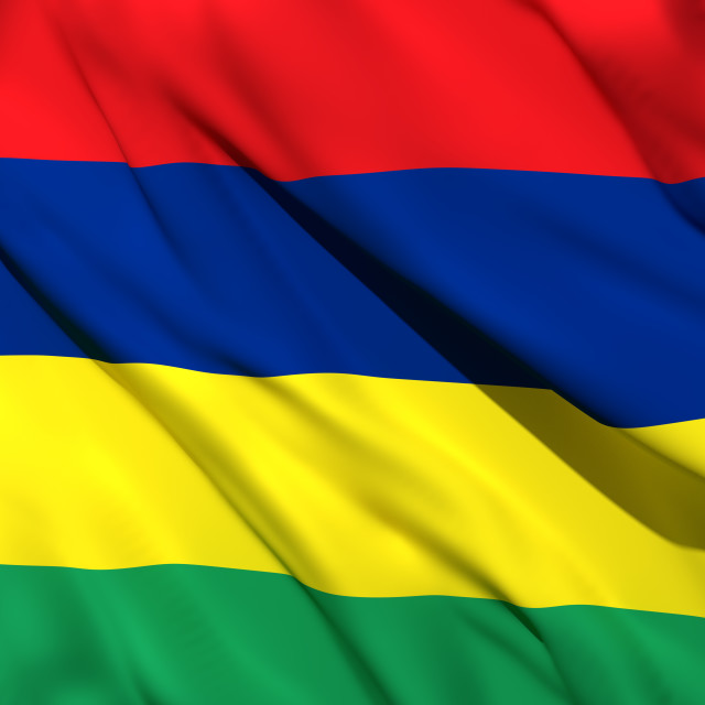 """3d rendering of Mauritius flag"" stock image"