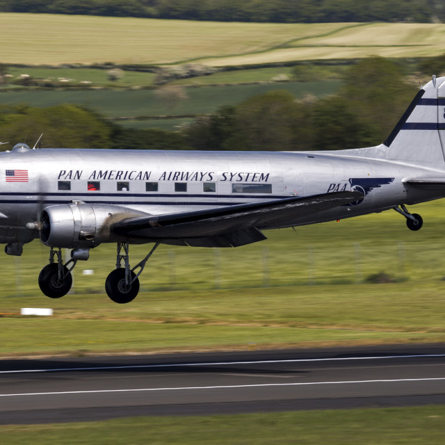 """Pan Am Douglas DC-3C"" stock image"