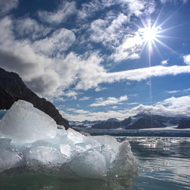 """""""Sunshine on Svalbard"""" stock image"""