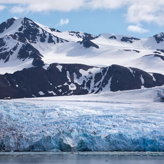 """Glacial landscape"" stock image"