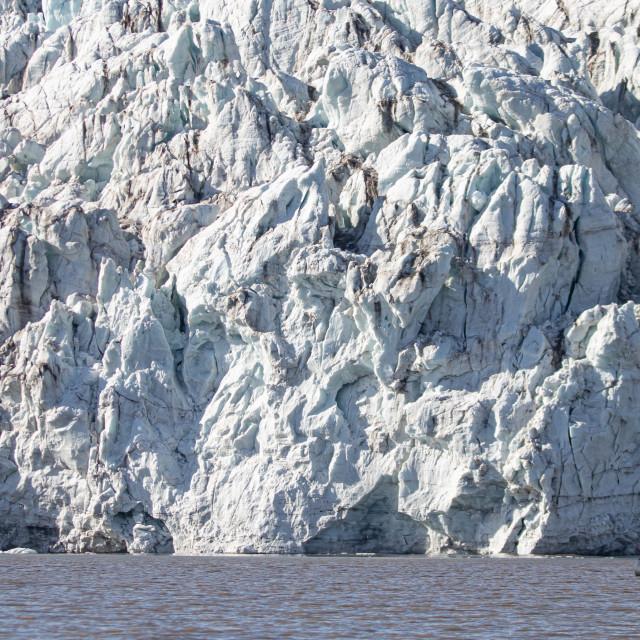 """Zodiac approaching the glacier"" stock image"