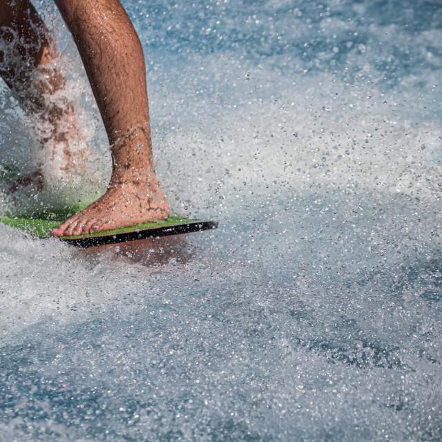 """Closeup of Surfer feet"" stock image"