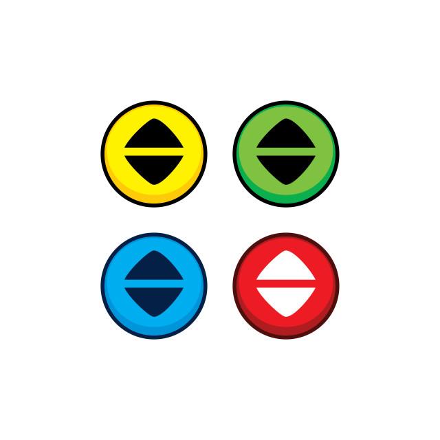 """color game asset menu icon button vector"" stock image"