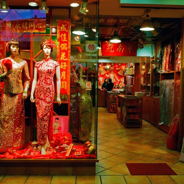 """Wedding Shop, Hong kong"" stock image"