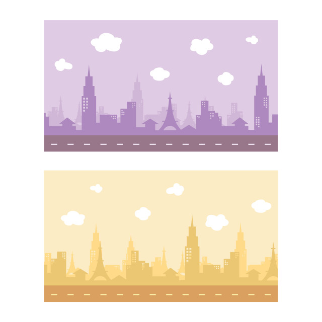 """""""video game asset city view color theme vector art"""" stock image"""