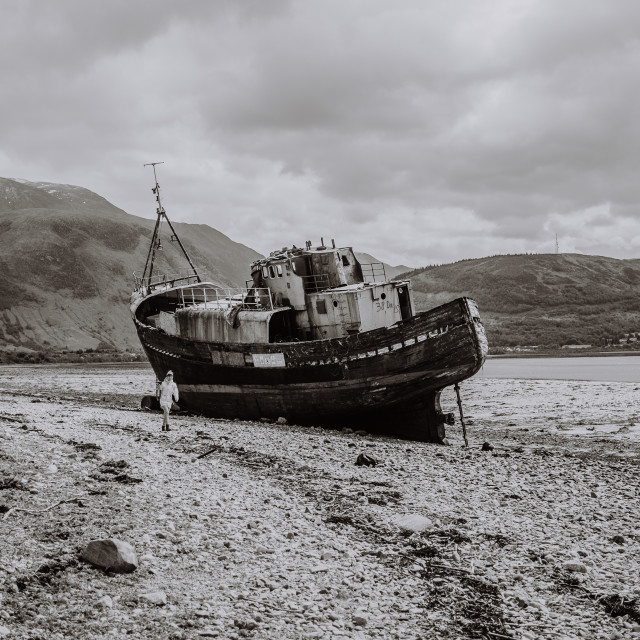 """""""Old boat of caol"""" stock image"""