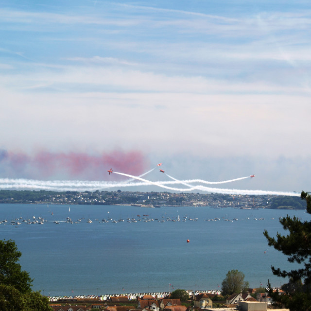 """""""Torbay Red Arrows"""" stock image"""