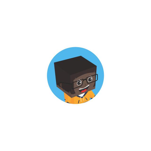 """block isometric profile picture avatar"" stock image"