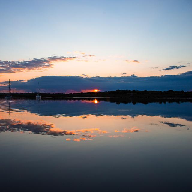 """Sunset reflections"" stock image"