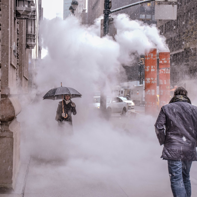 """Smoke in New York City"" stock image"