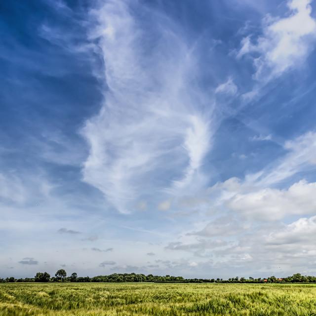 """The big sky on the island of Walcheren"" stock image"