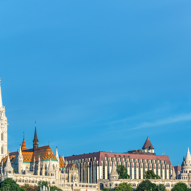 """Fishermans Bastion and Matthias Church"" stock image"