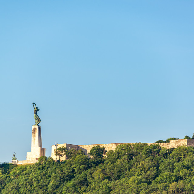 """View of Gellert Hill in Budapest"" stock image"