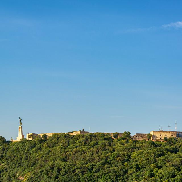 """""""Gellert Hill in Budapest"""" stock image"""