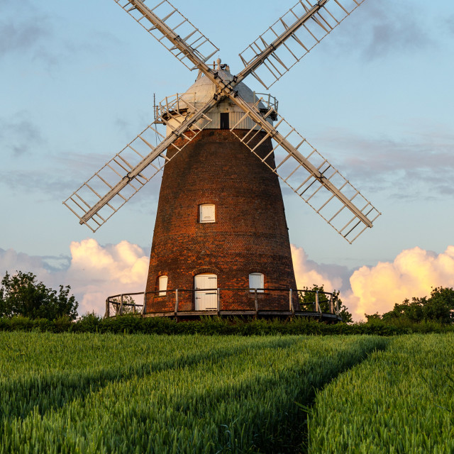 """""""Thaxted Windmill"""" stock image"""