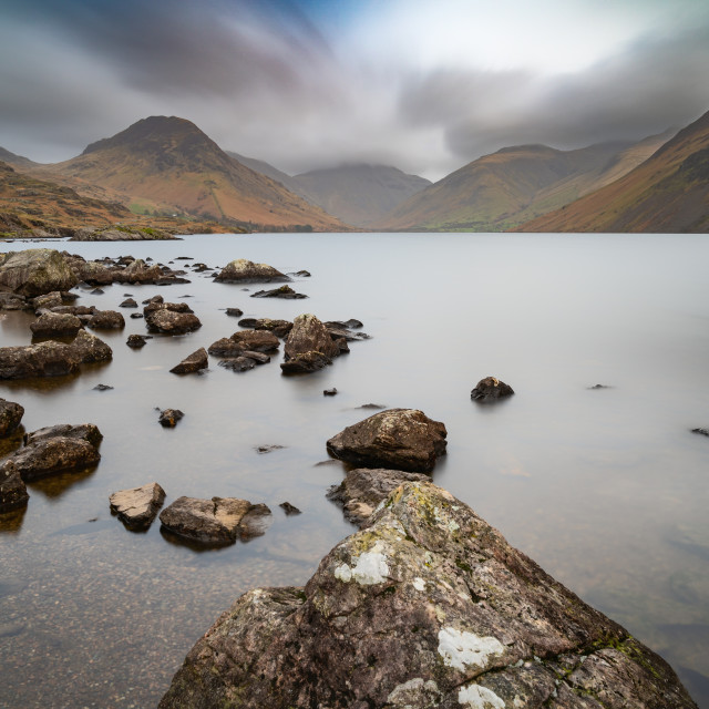 """""""Wast Water towards Great Gable"""" stock image"""