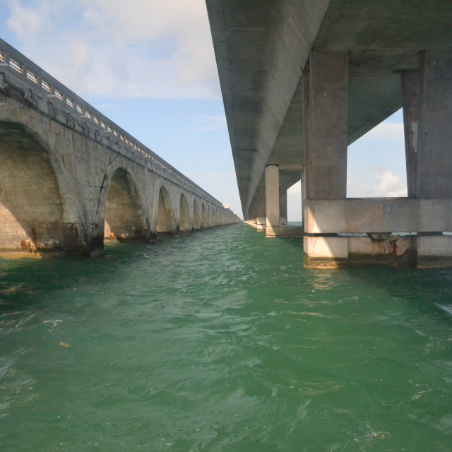 """Between the two bridges."" stock image"