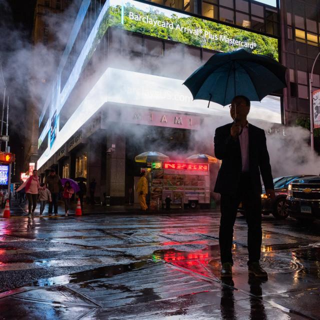 """Rainy New York"" stock image"