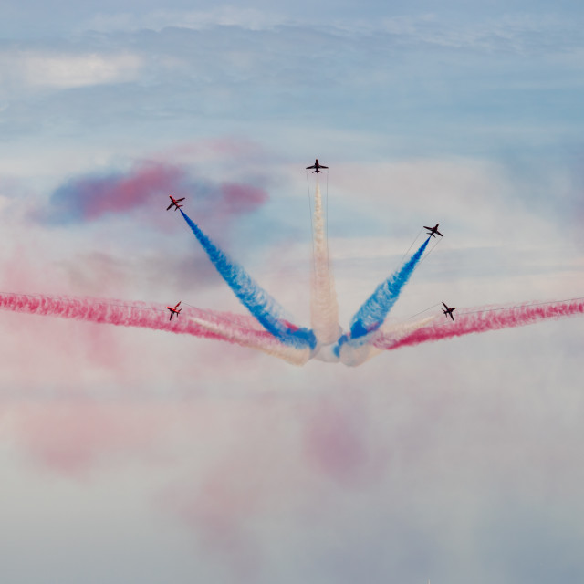 """""""The Red arrows 2019 display."""" stock image"""
