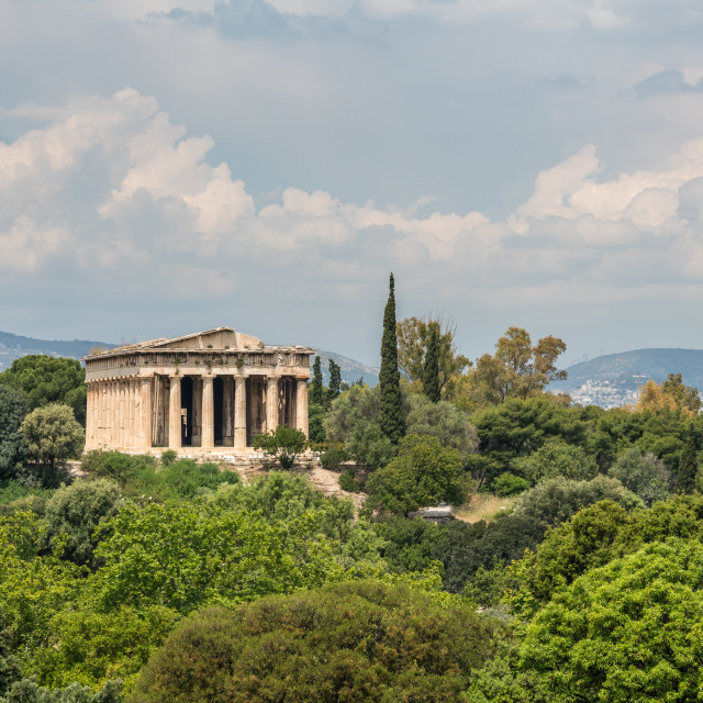 """Temple of Hephaestus in Greek Agora"" stock image"