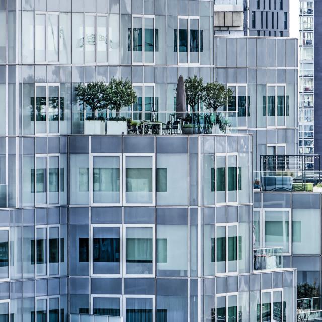 """Rotterdam urban roof terraces"" stock image"