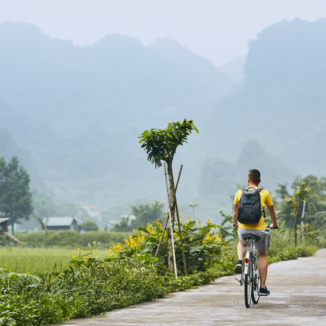 """Trip by bike in Vietnam"" stock image"